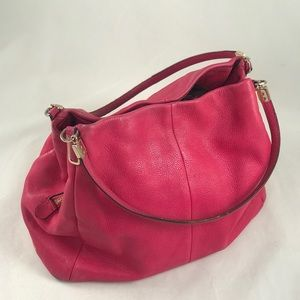 Coach Hot Pink Leather Purse Hobo Satchel
